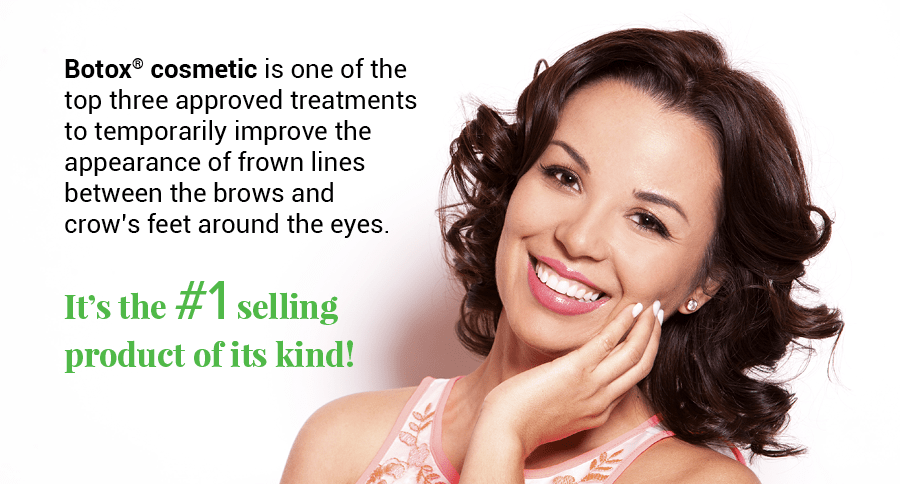 Woman smiling and holding hand to her face show how cosmetic Botox® can improve your smile.